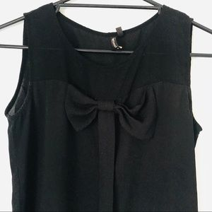 HeartSoul • Black Sleeveless Dress Top with Bow
